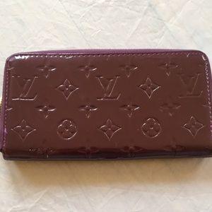 Louis Vuitton Purple ZIP Wallet Purse Organizer